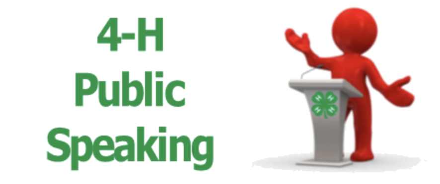4-H Public Speaking logo image