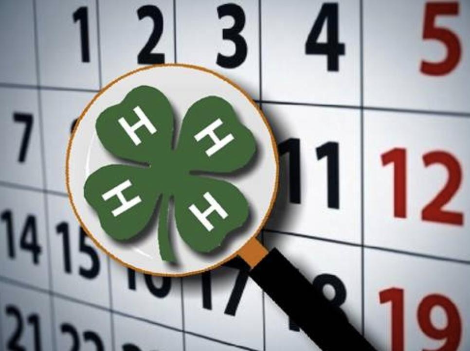 4-H Calendar