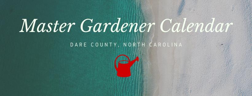Master Gardener Calendar banner