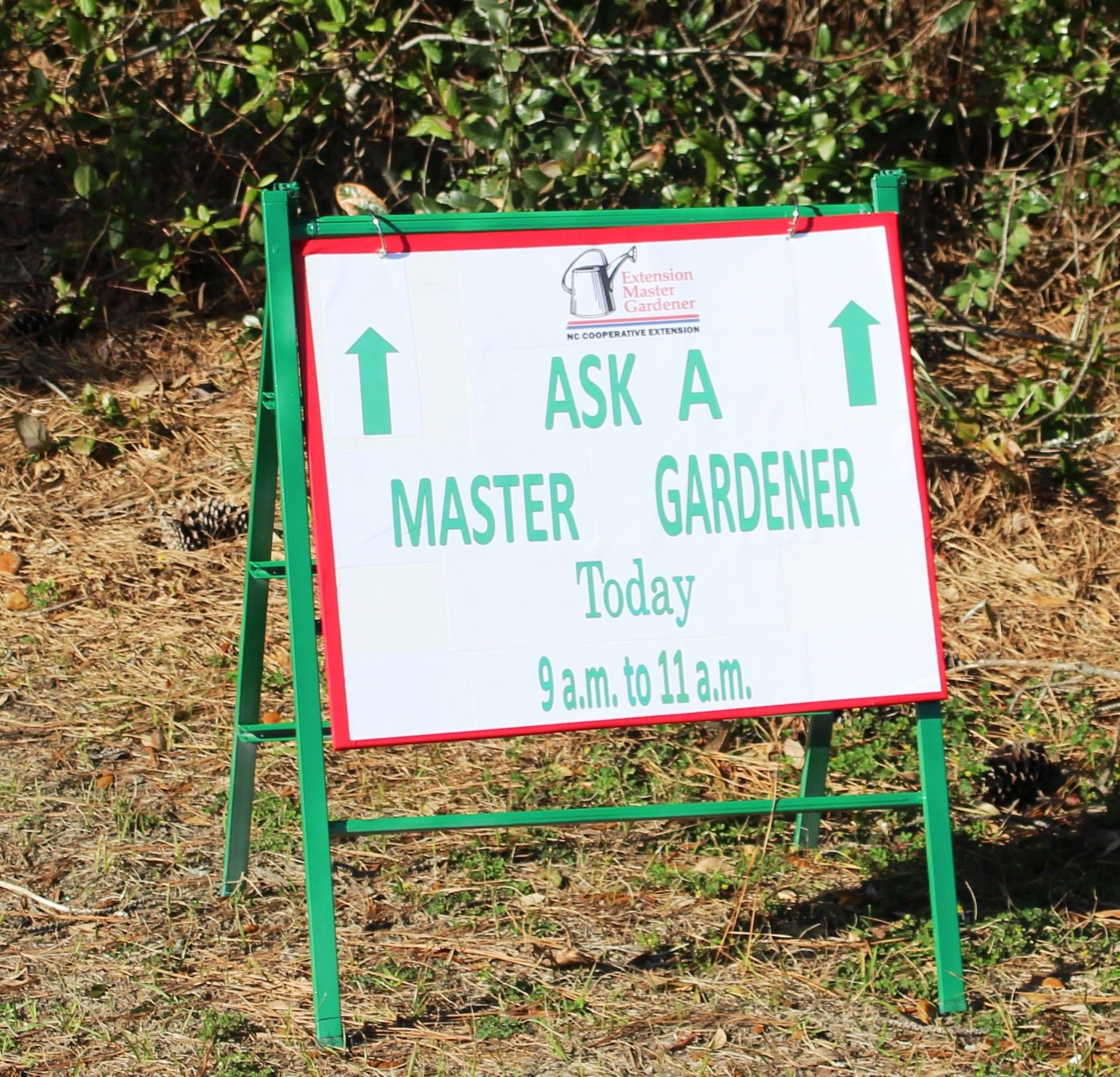 Ask a Master Gardener sign