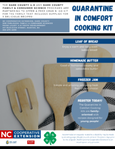 Cover photo for Quarantine in Comfort Cooking Kit