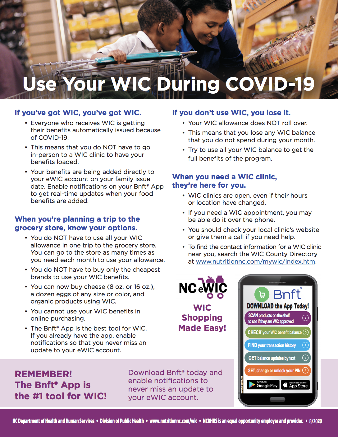 WIC Flyer English