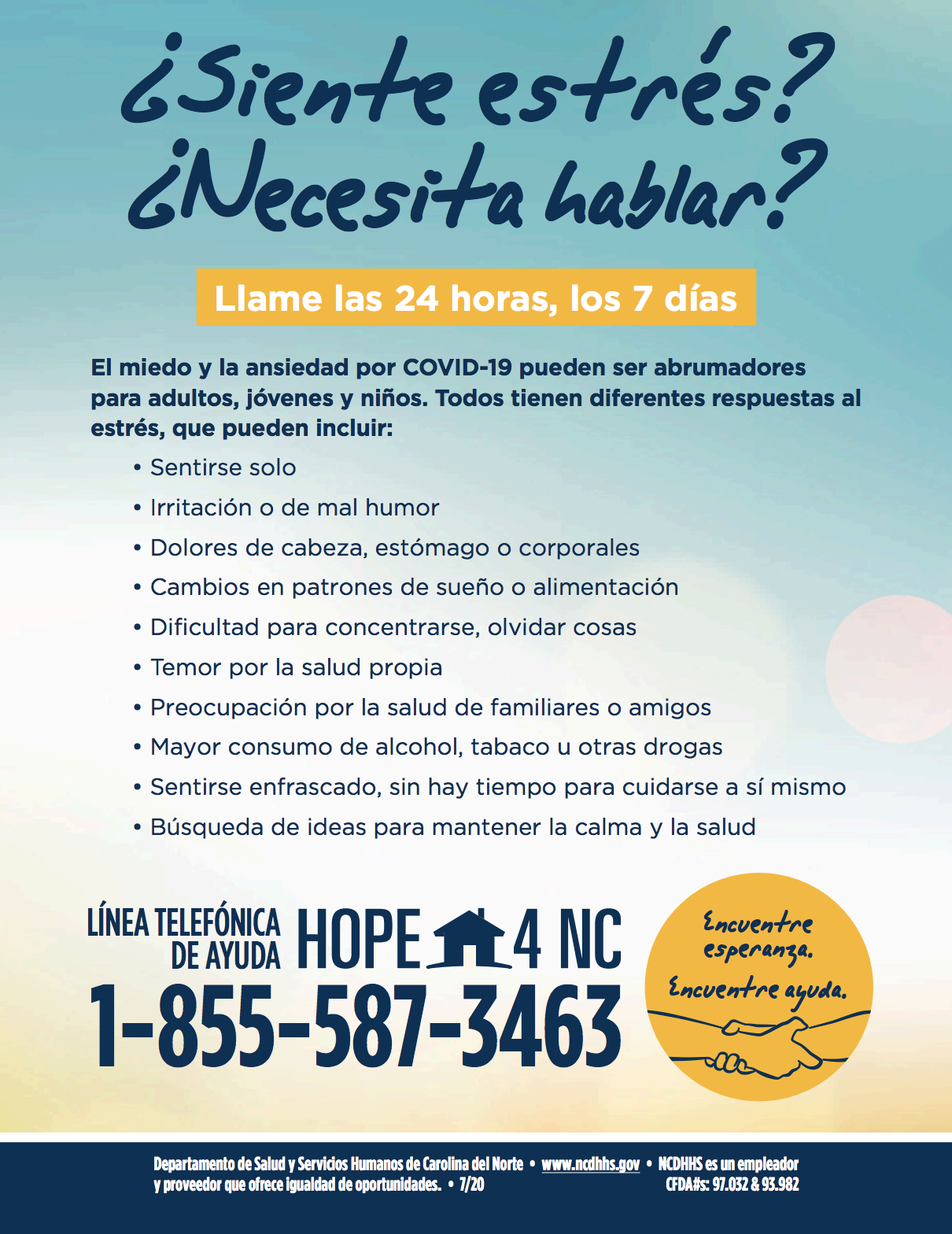 HOPE4NC Spanish